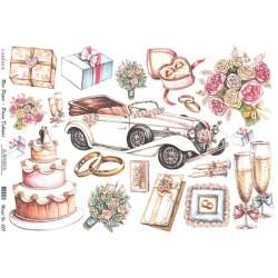 Rýžový papír A4 Svatební motivy