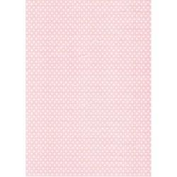Rýžový papír A4 Bílé puntíky na růžové