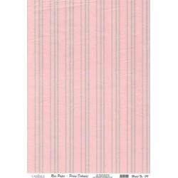 Rýžový papír A4 Tmavě šedé proužky na červené