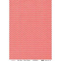 Rýžový papír A4 Bílé puntíky na červené