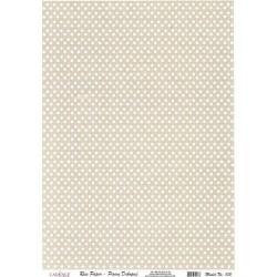 Rýžový papír A4 Bílé puntíky na šedé