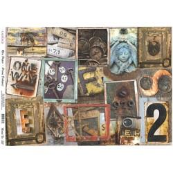 Rýžový papír A4 Předměty vintage