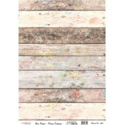 Rýžový papír A4 Dřevěná prkna vintage