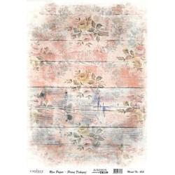 Rýžový papír A4 Růže na růžovém dřevě