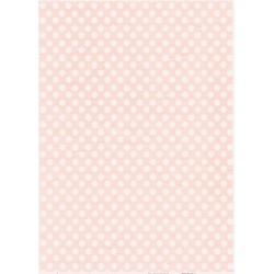 Rýžový papír A4 Bílé tečky na růžové