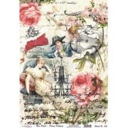 Rýžový papír A4 Koláž vintage