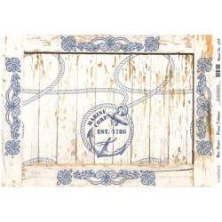 Rýžový papír A4 Námořní motiv na dřevě