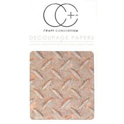 Zrezivělý plech - set 3 papírů pro decoupage CC