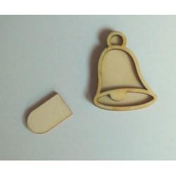 Razítko dřevěné - zvoneček 3,5x4