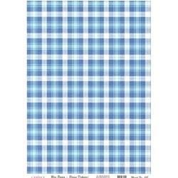 Rýžový papír A4 Vzor modré káro