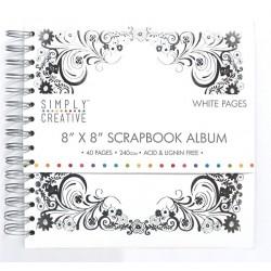 Album 20x20 Bílé se stříbrným rámečkem