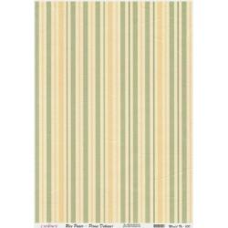 Rýžový papír A4 Svislé proužky žluté a zelené