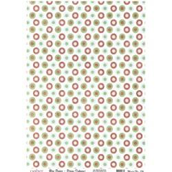 Rýžový papír A4 Barevné kroužky