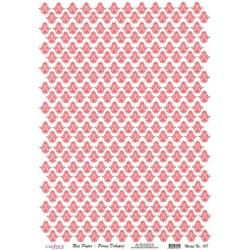 Rýžový papír A4 Drobné červené ornamenty