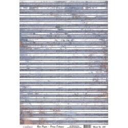 Rýžový papír A4 Modré pruhy se rzí