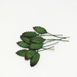 Papírové lístečky růží 1,5cm, 10ks