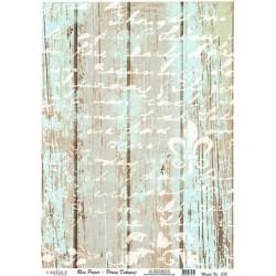 Rýžový papír A3 Modré dřevo, bílé písmo