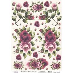 Rýžový papír A3 Malované růže