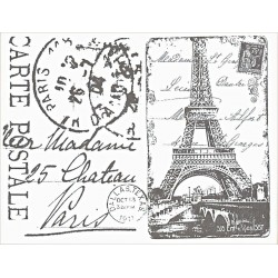 Transfer Cadence 25x35 - Paris, Carte Postale