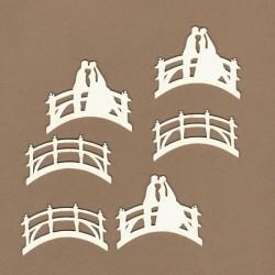 3x novomanželé na mostě - 6ks chipboards