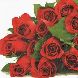 Kytice rudých růží 33x33