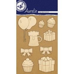 Sada kartonových výřezů Aurelie - Párty