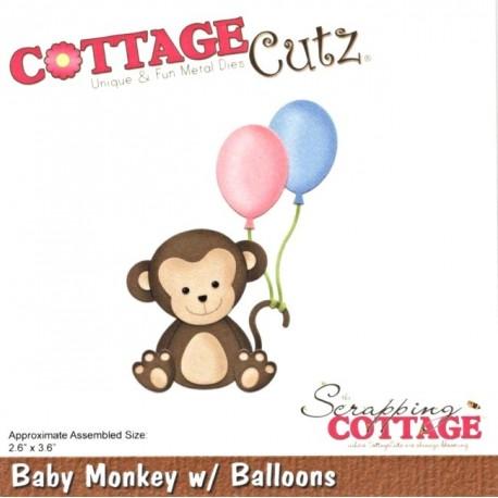 Vyřezávací šablona Opička s balónky