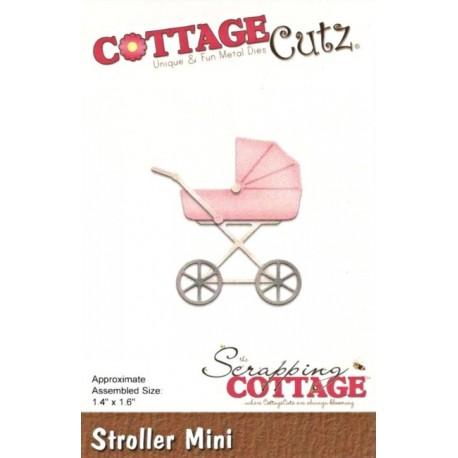 Vyřezávací šablona Dětský kočárek mini - moderní