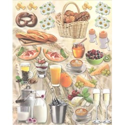 Papírové výseky - Snídaně a svačiny