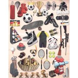 Papírové výseky - Sport