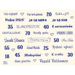 Samolepky - české texty, tmavě modrá