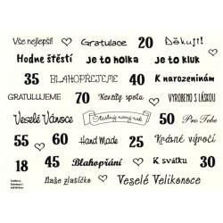 Samolepky - české texty, černá
