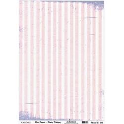 Rýžový papír A4 Růžové pruhy s vintage efektem