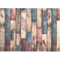 Papír rýžový A4 Barevné dřevo London