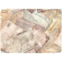 Papír rýžový A3 Historické mapy
