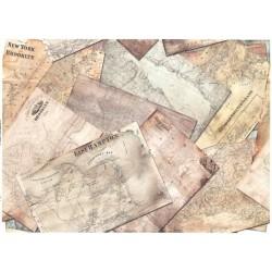 Papír rýžový A4 Historické mapy