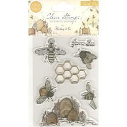 Transp.razítka - Včelky, plástev a včelí úly