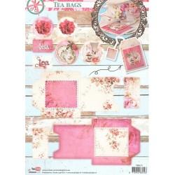 Papírové výseky A4 - Obálka na čajový sáček (SL)