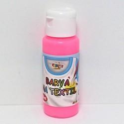 Barva na textil 60ml - fluorescenční růžová