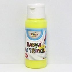Barva na textil 60ml - fluorescenční žlutá