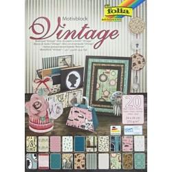 Blok vzorovaných papírů 20 listů - Vintage II