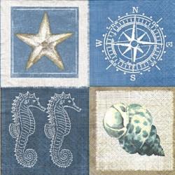 Čtverce s mořskými motivy 33x33