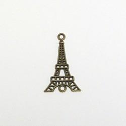 Kovový přívěsek Eiffelovka 20x36 staromosaz