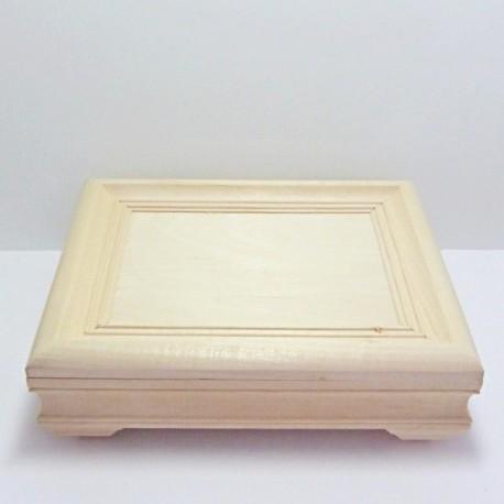 Dřevěná krabička obraz - obdélník (NEM)