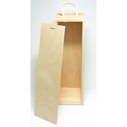 Dřevěná krabice na víno se zasouvacím krytem II. (NEM)