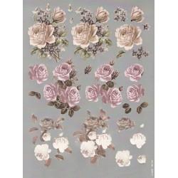 Papírové výřezy 3D - Kondolence, růže