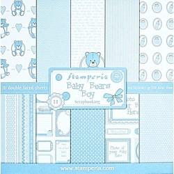 Sada papírů 30,5x30,5 170g Baby Bears Boy