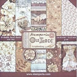 Sada papírů 30,5x30,5 170g Old Lace