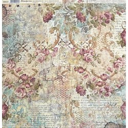 Čas je iluze, ornamenty s květy 30,5x30,5 scrapbook