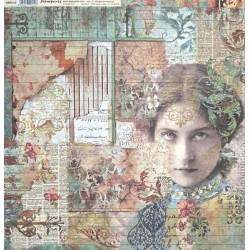 Čas je iluze, dívka 30,5x30,5 scrapbook
